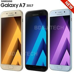 "Samsung Galaxy A7 2017 (32GB) 5.7"" 4G LTE Factory Unlocked GSM Android 6.0 A720F"