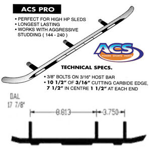 ACS Carbide Runners Ski-Doo Summit 500 583 670 1997-1998