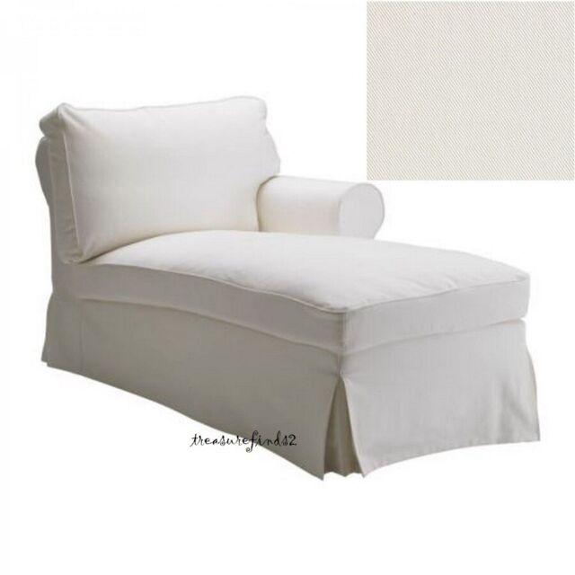 ikea ektorp cover for right arm chaise lounge blekinge white longue slipcover
