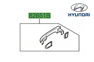 Genuine Hyundai i20 Exterior Front Rear Near Offside Door