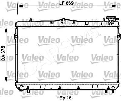 Engine Cooling Radiator VALEO Fits HYUNDAI Elantra Lantra