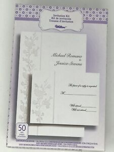 Details About Wilton Wedding Invitations Printable Kit Reply Cards Envelopes Cherry Blossom