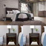 3 Piece Queen Size Bedroom Set Furniture Modern Brown Bed Leather 2 Nightstands For Sale Online