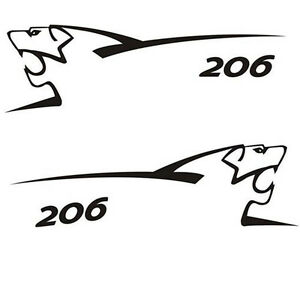 2 Professional stickers 80 x 25 cm tuning peugeot 206/207