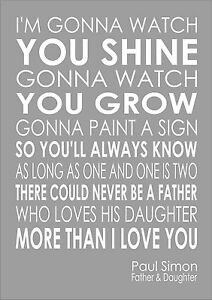 Paul Simon Father And Daughter Lyrics Wedding Song