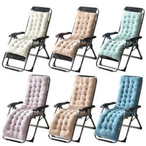 details about fleece tufted lounge chair cushion chaise pad patio garden recliner pillow mat