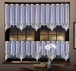 details sur cuisine blanc cafe rideau filet vendu par metres