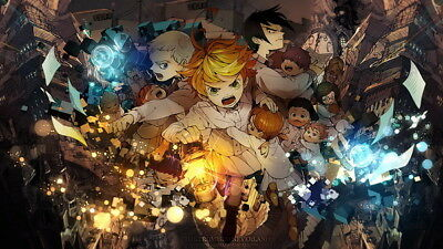015 the promised neverland emma norman ray fight anime 24 x14 poster ebay
