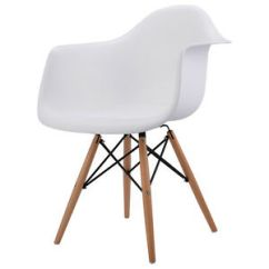 Eames Style Plastic Chair Clear Dining Chairs Nz New 1pc Mid Century Modern Molded Arm Image Is Loading