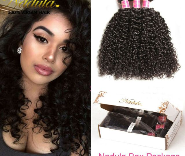 Nadula Amalaysian Curly Hair G  Unprocessed Virgin Human Hair Extensions