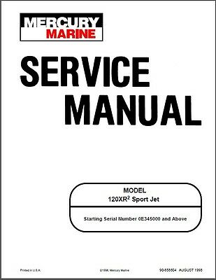 Mercury 120XR2 Sport Jet Drive Service Repair Manual CD