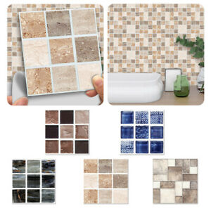 details about 18 90x mosaic wall tile stickers stick on kitchen wall self adhesive bathroom uk