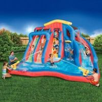 Pool With Water Slide For Kids Large Inflatable Splash