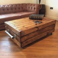 Large Reclaimed Wooden Rustic Vintage Industrial Waxed ...
