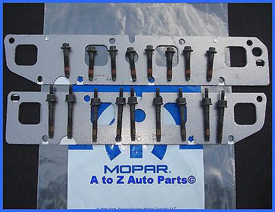 new 2003 2008 dodge ram 5 7 hemi exhaust manifold bolts gaskets repair kit mopar ebay