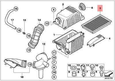 Genuine MINI R52 R53 Convertible Engine Air Filter Insert