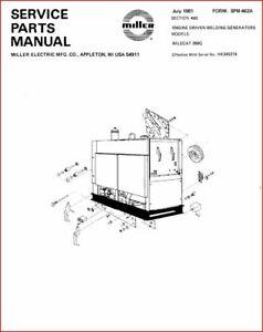 MILLER WILDCAT 350G SERVICE PARTS MANUAL EFF W / HK345274