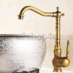 Antique Bronze Kitchen Faucet Orange Decor Brass Swivel Spout Single Handle Hole Mixer Image Is Loading