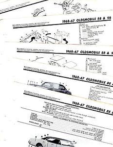 1967 1968 OLDSMOBILE 88 & 98 MOTOR'S ORIGINAL BODY PARTS