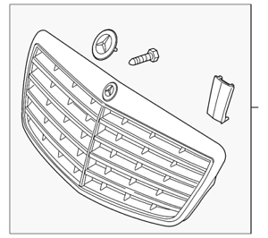 Genuine Mercedes-Benz Grille Assembly 221-880-00-83-9040