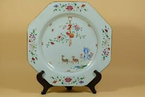 👀 Antique Chinese Famille-rose Porcelain Plate.