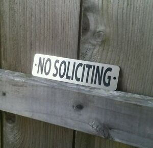 details about no soliciting
