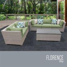 tkc florence 6 piece patio wicker
