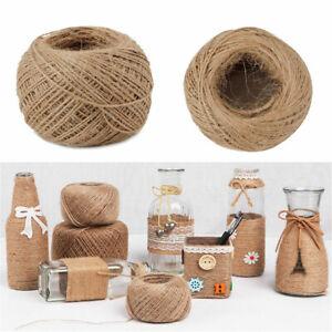 87yard Natural Hemp Linen Cord Twisted Burlap Jute Twine Rope String Craft Decor Ebay
