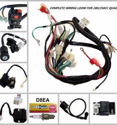 full motorcycle electrics wiring harness loom solenoid coil 250cc atv quad bike for sale online ebay [ 1200 x 1200 Pixel ]