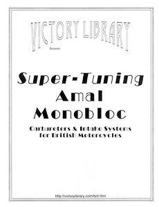 Amal Monobloc 389 Carburetor Tuning BSA A7, A10; Triumph