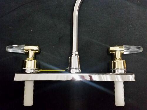 kitchen faucet hi rise swivel centerset 2 handles chrome finish rv motorhome new rv trailer camper parts automotive