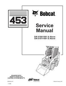 New Bobcat 453 Skid Steer Loader 1997 rev. Repair Service