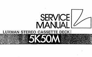 LUXMAN 5K50M SERVICE MANUAL INC SCHMS PRINTED IN ENGLISH