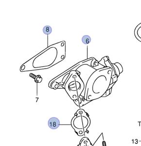 Genuine Suzuki GRAND VITARA GV 2005-2015 1.9D EGR Valve