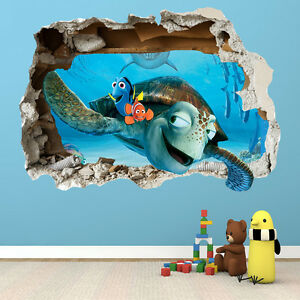 finding nemo wall sticker d smashed bedroom boys girls wall art