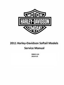 2011 Harley Davidson Softail Models Factory Service Shop