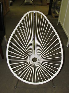 innit acapulco chair folding aluminum lawn chairs canada designs white weave on chrome frame image is loading