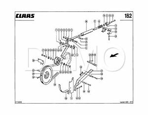 Claas Dominator 118/108 Spare Parts Catalogue, Original