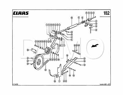 Claas Dominator 86 Spare Parts Catalogue, Original Manual