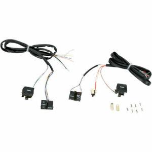 Black Handlebar Control Switches Complete Kit Set Harley