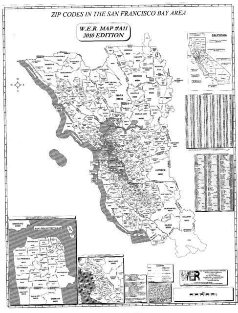 San Francisco Bay Area Zip Code Map