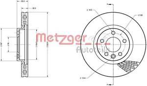 METZGER Brake Disc For VW Multivan T5 Transporter