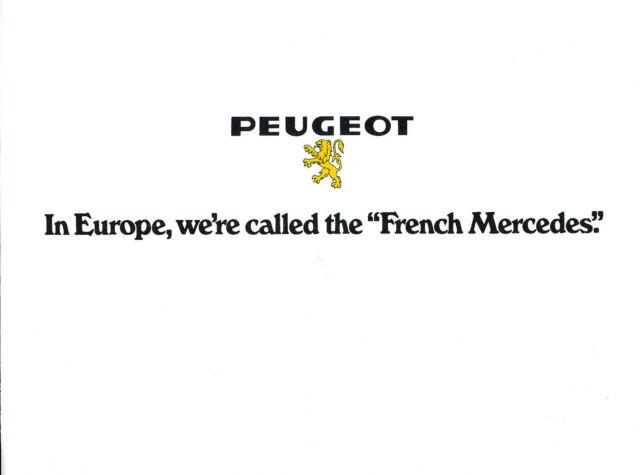 1973 Peugeot 504 Sedan and Wagon Original Car Sales