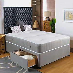Image Is Loading 4ft Small Double Divan Bed 11 034 Pocket