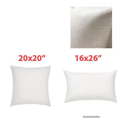 ikea pillow insert duck feathers fjadrar 20x20 or 16x26 cushion off white ebay