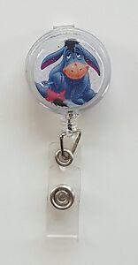 Disney's Eeyore Winnie Pooh Retractable Badge Reel Name ...