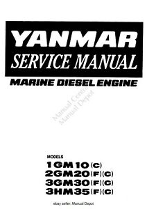 YANMAR 1GM10 2GM20 3GM30 3HM35 MARINE DIESEL ENGINE
