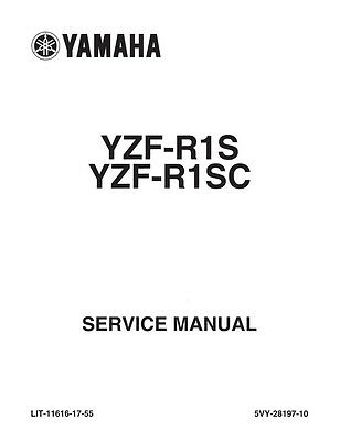 New Yamaha YZF-R1S YZF-R1SC R1 Repair Service Manual 2004