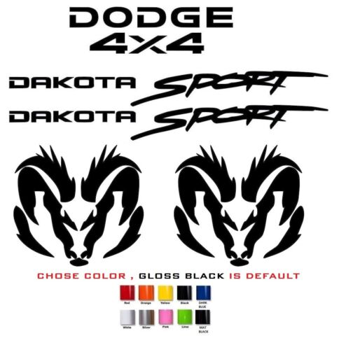 Motors Car & Truck Graphics Decals DODGE DAKOTA SPORT 4X4