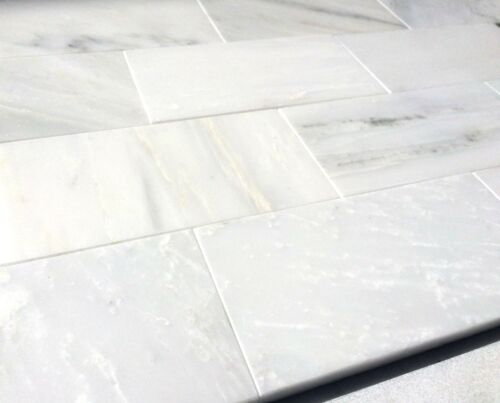 home garden white carrara subway 3x6 honed marble tile backsplash wall sample sold by piece home improvement